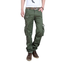 Newest Mens Military Long Pants Trousers Camo Combat Army Cargo Work Safari More Pockets Pants Casual High Quality Sportswear
