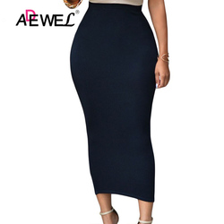 6ad8ee43cd2c ADEWEL 2019 Sexy Women Bodycon Long Skirt Black High Waist Tight Maxi Skirts  Club Party Wear