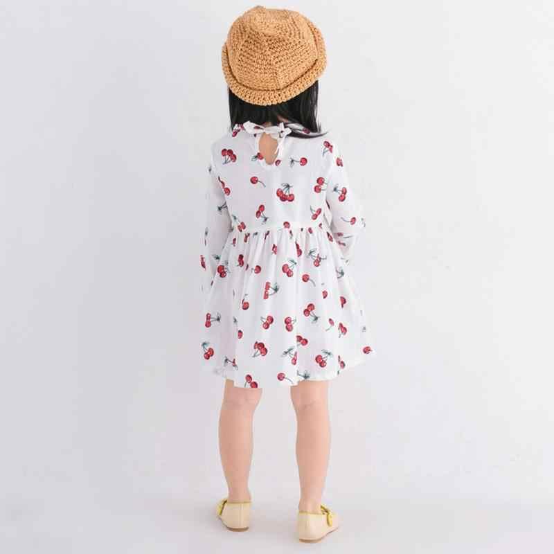 Mùa hè Bé Gái Trẻ Em Đầm Tay Dài Kẻ Sọc Cotton Mềm Mại Cho Bé Quần Áo Mùa Hè Đầm Công Chúa Cho Bé Gái Quần Áo