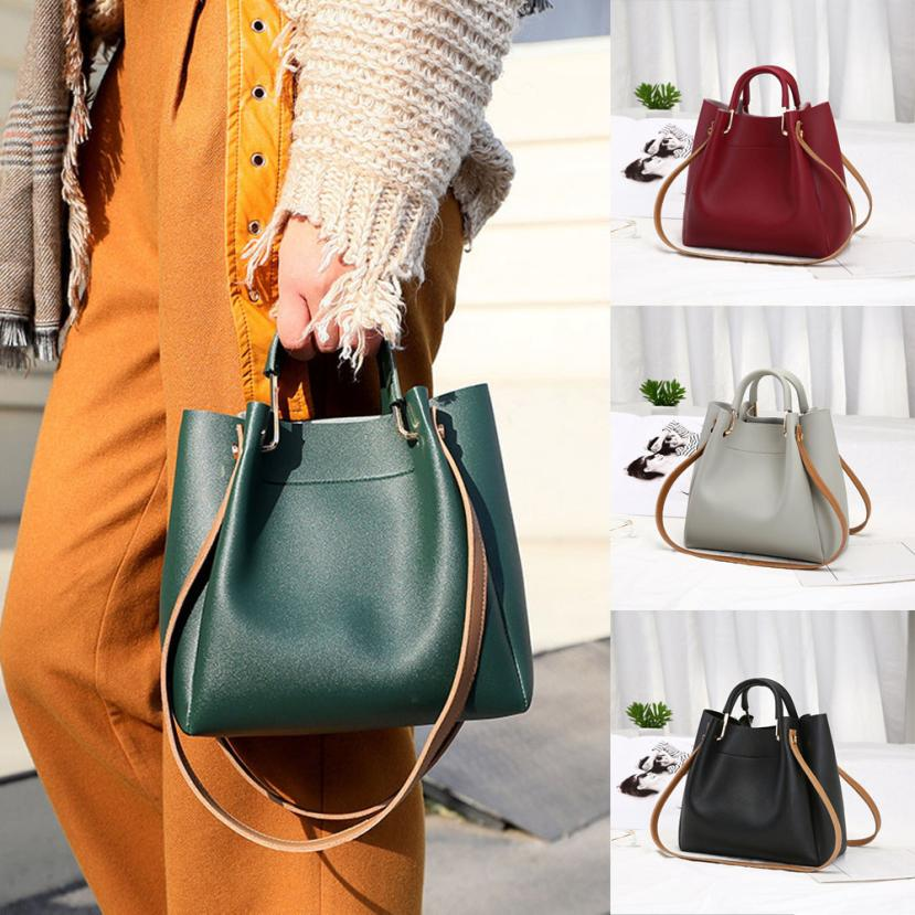Molave Shoulder Bag new high quality leather Fashion Bucket Bags Female Solid Simple Wild Bags shoulder bag women Mar16