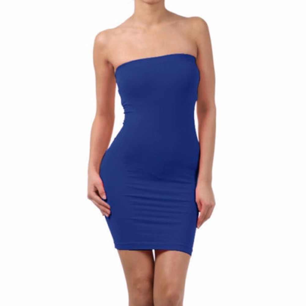 Femmes été sans manches dos nu Sexy robe mince élastique serré Body-con robe de base réservoirs gilet dames robe sangle robe de soirée