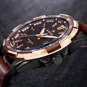 Image 4 - NAVIFORCE relojes deportivos para hombre, de cuarzo, resistente al agua, Cuero militar del ejército