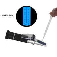 FTBTOC 0 32% Brix Tester BuildPortable Sugar Beer Brix Refractometer Optical Refratometro in ATC with Retail Box