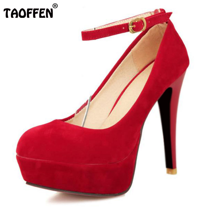 TAOFFEN women platform stiletto high heel shoes footwear sexy brand party fashion heeled pumps heels shoes size 32-43 P17016 size 33 40 p23118 women pointed head high heel pumps fashion platform wedding square heel footwear heeled sexy heels shoes