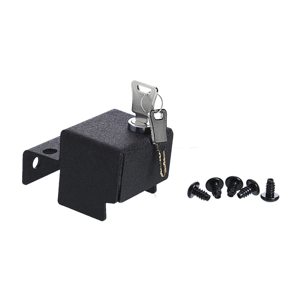 Anti Theft Security Kit For Jeep Wrangler Engine Cover Lock Metal Horn Button Wiring Name Hood Jk Colour Black Material Steel Applicable Models