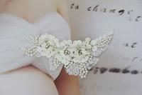 Upscale Handgemaakte 6*3 inches Exquisite Strass Kralen Pearl Pailletten Tsjechische Stenen Applicaties Wedding Avondjurk Trimmen