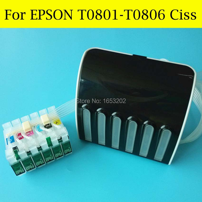 1 Set Continuous Ink Supply System For Epson For Epson 1400 1430 1500W P50 PX650 PX660 RX585 RX685 RX560 R285 Printer Ciss все цены