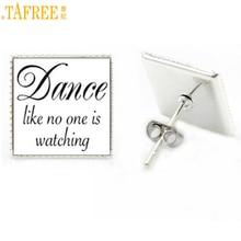 Tafree модные Танцы RS ювелирных изделий Танцы как никто не смотрит серьги-гвоздики ASOS Love для танцев женские прелести музыкальные ноты подарки AA137