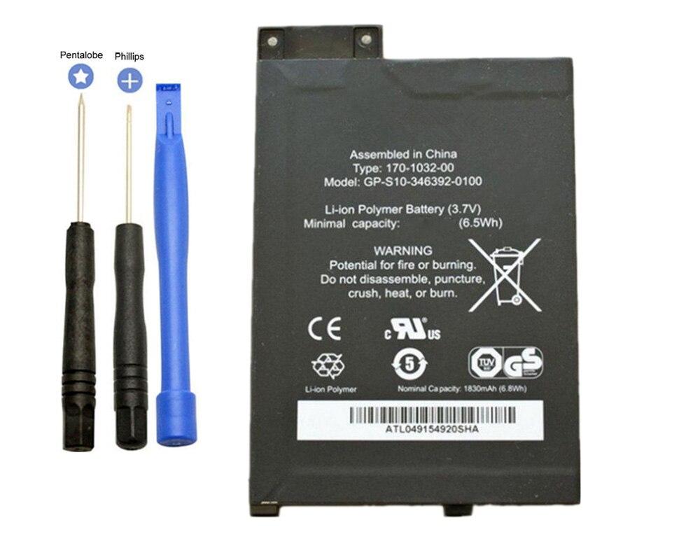 ISUN Batterie Ersatz Für Amazon Kindle 3 III Tastatur eReader D00901 Graphit 170-1032-00 1830 mah mit werkzeuge