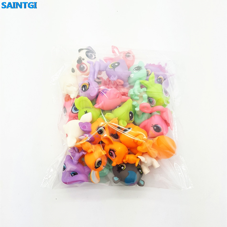 SAINTGI Toy bag 12Pcs/bag random Little Pet Shop LPS Toys Animal Cartoon Cat Dog Action Figures Collection Kids toys Gift cute pet rare color sausage short hair dog action figure girl s collection classic anime christmas gift lps doll kids toys