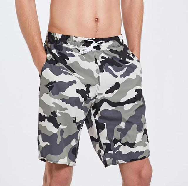 edb4e9ef31f39 Mens Camouflage Trunk Quick Dry Board Shorts Bathing Suits Swimming Beach  Pants Drawstring Blue Black Red 3XL Free Shipping
