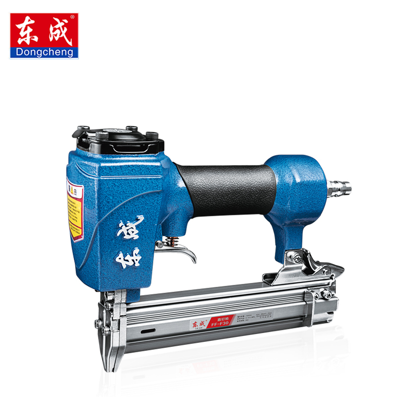 Dongcheng FF-F30 Pneumatic Nail Gun Air Stapler Gun Tool Brad Nail Gun U Style for Furniture Wood Sofa woodworking dongcheng ff t50dc nail gun air brad nailer 25 50mm straight nail 1 4mm diameter stapler 4 8 bar gun 8mm pipe