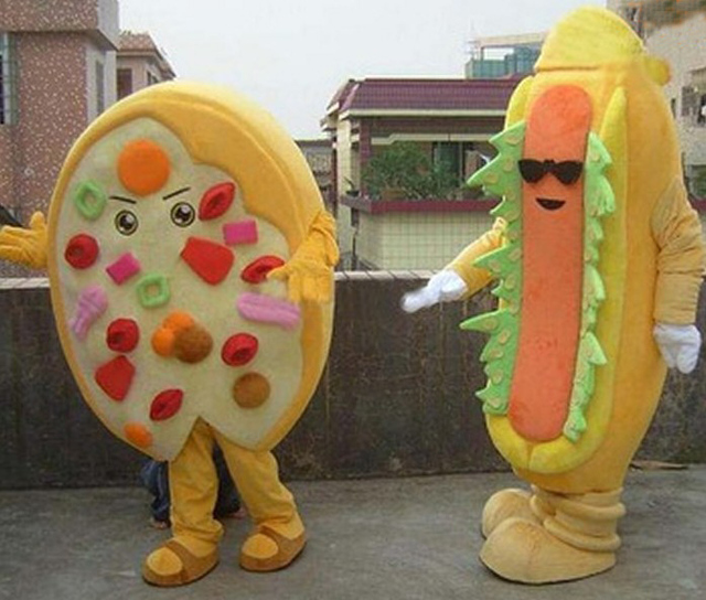 1 pair of hot dog and Pizza Food Mascot Costume New Style High Quality Pizza and & 1 pair of hot dog and Pizza Food Mascot Costume New Style High ...