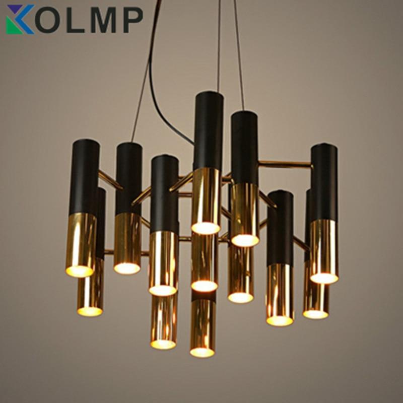 Delightfull Ike Black And Gold Metal Aluminum Chandelier Lamp Italy Modern Design Suspension Light For Dinning Restaurant In Chandeliers From Lights