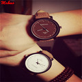 Fashion Vintage Quartz Relojes Leather Band Round Women Men Relogio Oversized Face Wrist Watch