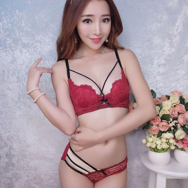 MINGMO 2018 Japan Cute Intimates Lingerie Transparent Lace Cozy Bra Set  Sexy Panties And Bra Sets Women Matching Women Underwear f5824cf12a