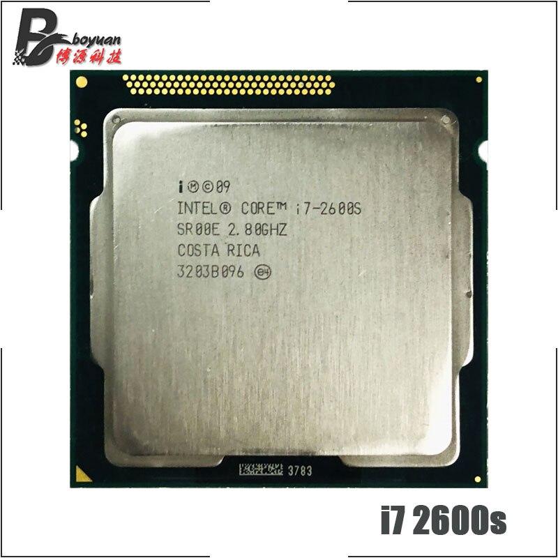 Intel Core i7 2600S i7 2600S i7 2600 S 2.8 GHz Quad Core Eight Core 65W CPU Processor LGA 1155-in CPUs from Computer & Office