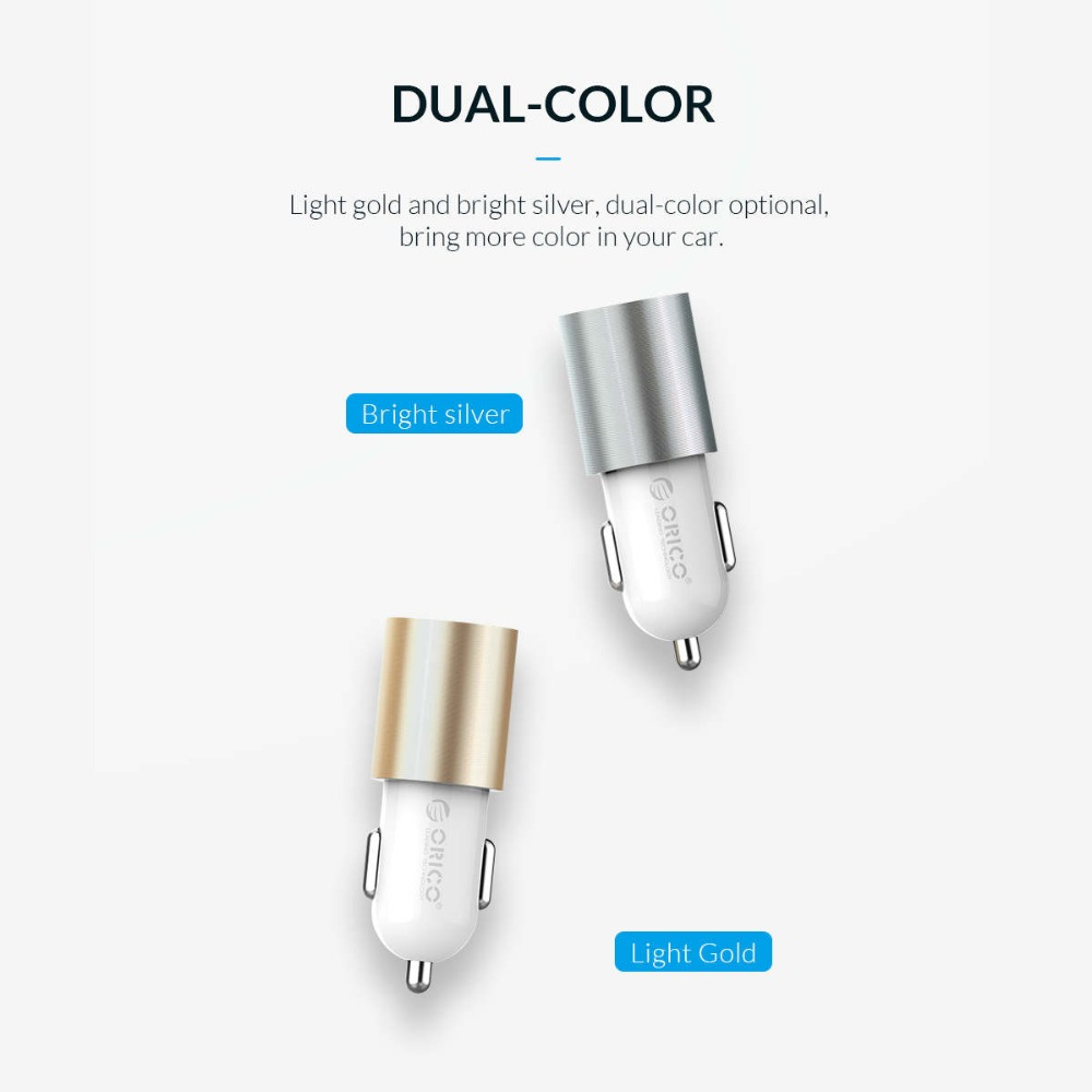 ORICO Dual Output Car Charging Type C Port + USB Charger Car Cigarette Lighter Charger Wide Voltage Mobile Phone Charger (11)