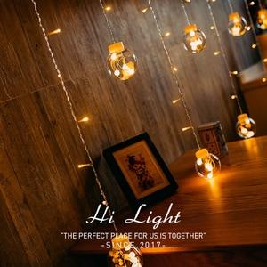 Image 3 - Led銅線スターカーテンストリングライトランプ屋外の結婚式のための妖精の照明クリスマス装飾220 220v euプラグキラキラ輝いて