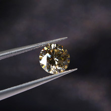 5mm 0.46ct Karat VVS1 Mükemmel Kesim Sınıfı Testi Pozitif Yuvarlak Kesim Sarı Moissanite EF Renk Gevşek Taşlar Moissanite