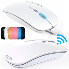 2.4GHz Wireless N5 Rechargeable Silent USB Optical Ergonomic Slim Piano Paint Mini Gaming Mouse For PC Laptop Computer Noiseless