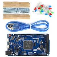 DUE R3 Development Board Kit W USB Cable Resistor LED 32 Bit ARM Microcontroller For Arduino