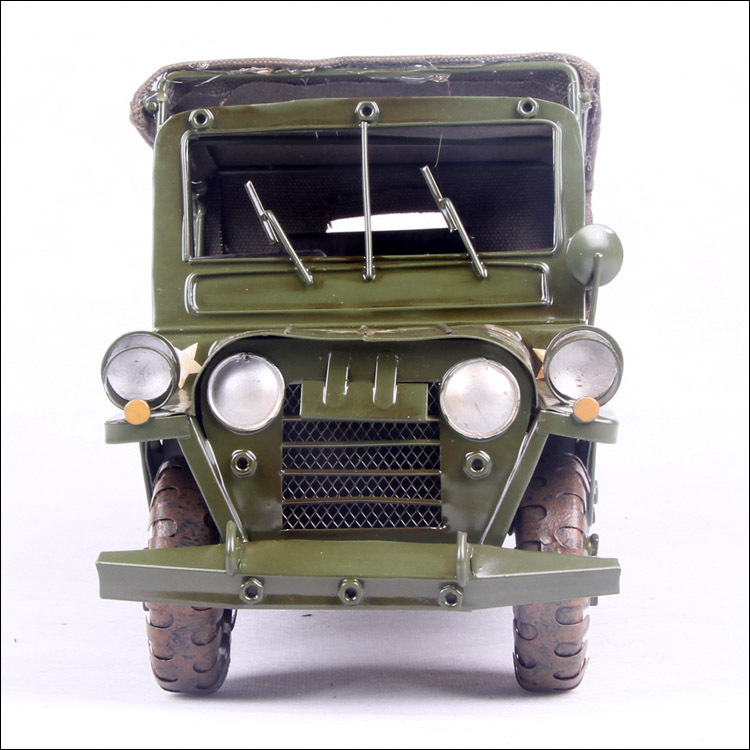 ФОТО 1pcs 12inch hand made metal Cross-Country army Jeep car model for desk deck.