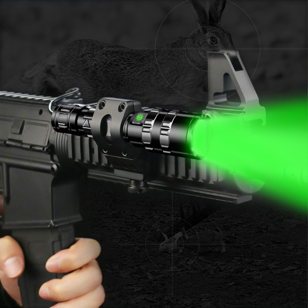 10000Lums LED L2 Green Tactical Flashlight Super Bright USB Rechargeable Torch clip Hunting light Waterproof for 18650 battery in Flashlights Torches from Lights Lighting