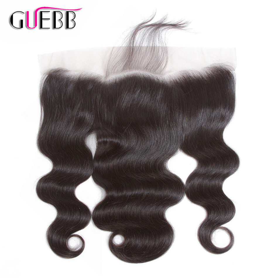 PALPOY 13*4 Lace Frontal Closure With Baby Hair Peruvian Body Wave Non Remy