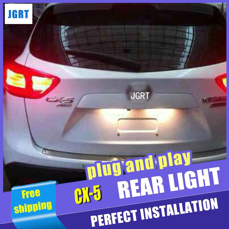 Стайлинга автомобилей для Mazda СХ-5 фонарь в сборе 2011-2015 Мазда CX-5 LED задний фонарь заднего лампы ДРЛ+Тормозная+Парк+сигнала 2шт.