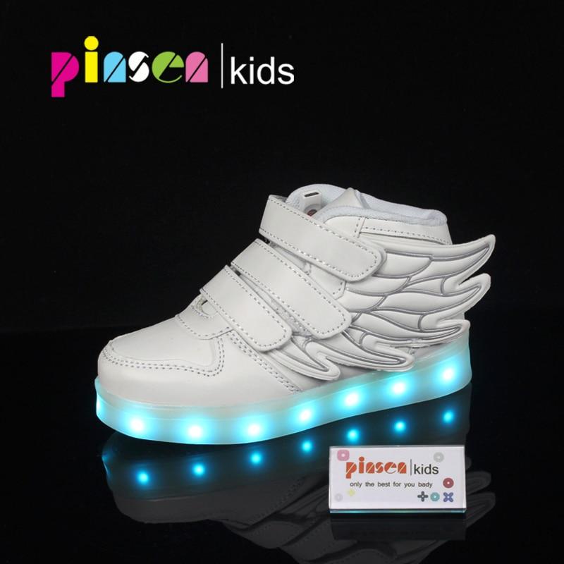 ab0926e2a363b Enfants chaussures lumineux sneakers led pantoufles panier led enfants  light up chaussures infantile lumineux sneakers garçon fille