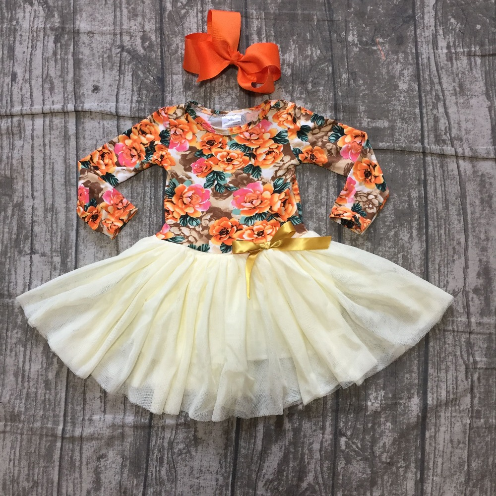 new fall/winter baby girls clothing cotton floral milk silk floral bow dress yarn skirt children clothes long sleeve match bow new fall winter baby girls milk silk cotton dress navy perple floral flower striped ruffle long sleeve children clothes boutique