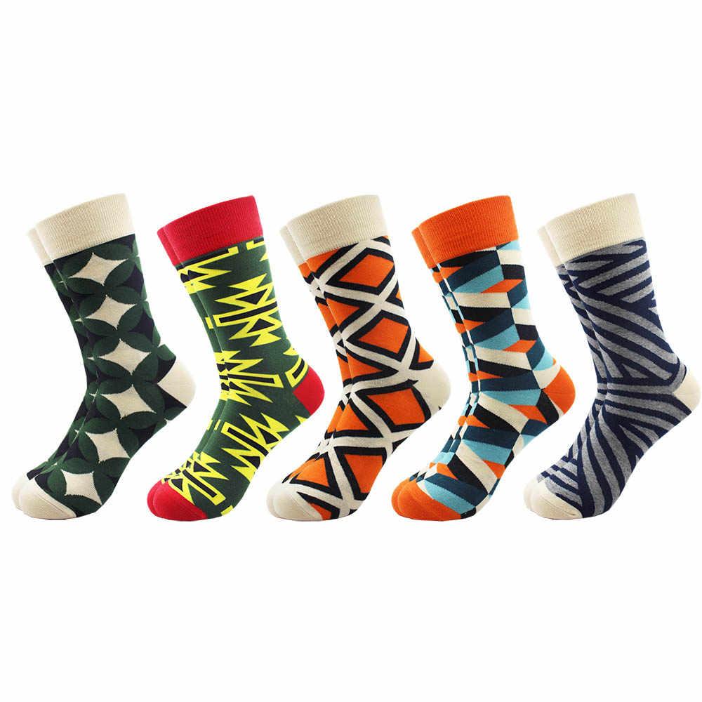 5 пара/лот мужские забавные красочные чесаные хлопковые носки фруктовый и футбольный стиль платье Повседневная команда счастливые носки свадебный подарок