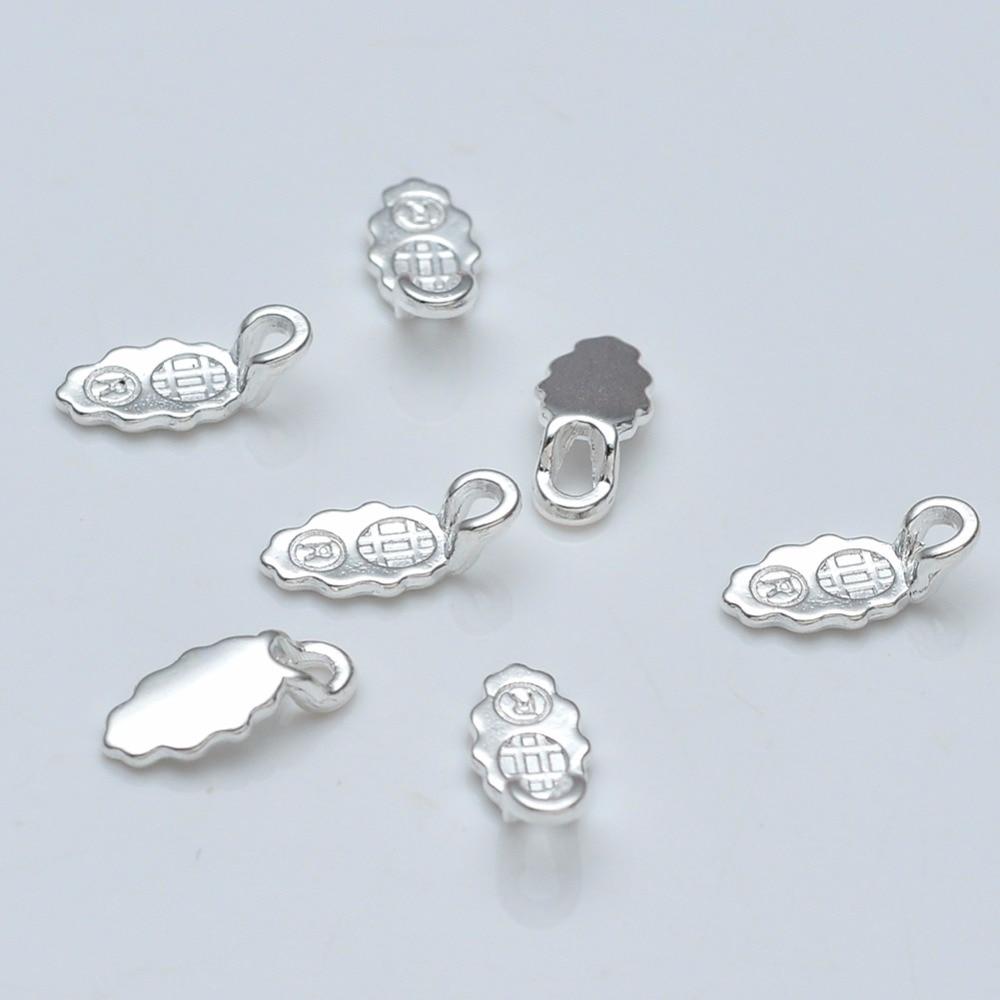 100Pcs Spoon Glue on Bail Earring Bails For Glass Tile DIY Connector Pendants