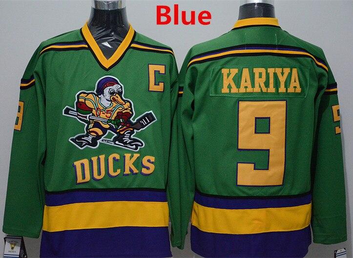 35fb9b510 Anaheim 9 Paul Kariya Mighty Ducks Jersey D-5 Moive Throwback Green  Customize 1995-96 ...