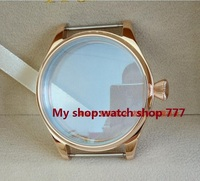 Parnis 44MM 316 Stainless Steel Watch Case Mineral Glass PVD Rose Gold High Quality Watchcase Wholesale