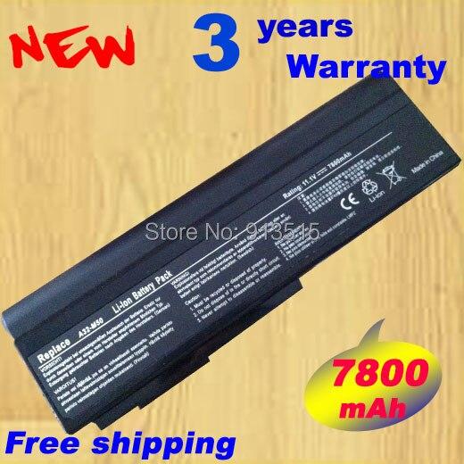 7800mAh Laptop Battery For ASUS M50 Series M50Q M50S M50SA M50SR M50SV M50V M50VC M50VM M50VN M60 M60J M60JV M60V N43 N43J