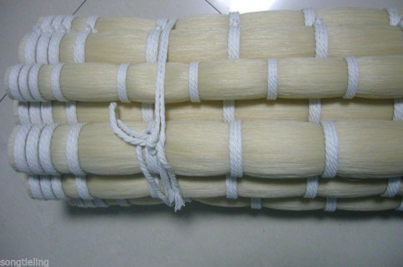 500g Length 92-95 Cm Violin Bow Horse Hair In Bulk White Mongolian Horsetail