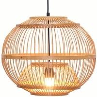 Do sul Da Ásia Bambu Lanterna Luzes Pingente Sala De Jantar Lâmpada Pingente Restaurante Japonês País Rústico Lâmpadas Penduradas|Luzes de pendentes| |  -