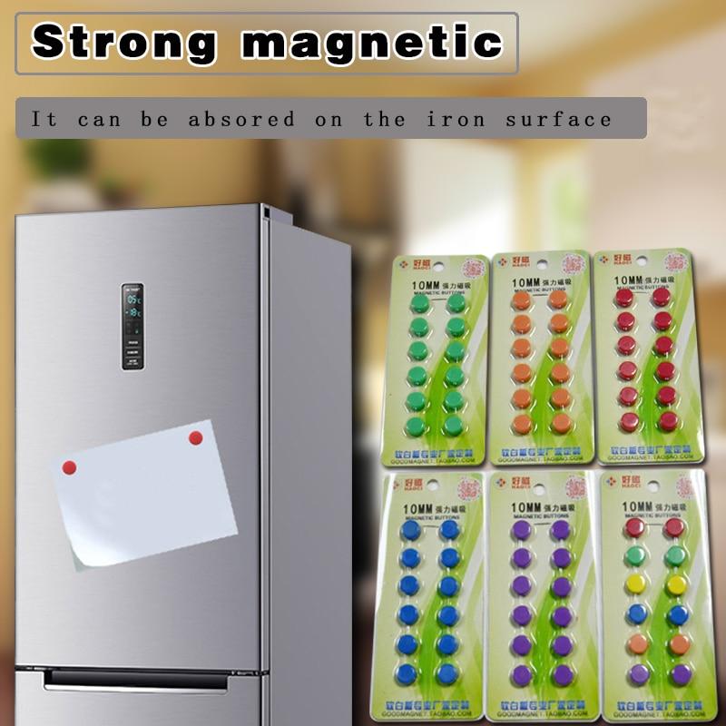 YIBAI 12Pcs/Lot Magnetic Round,Magnet Whiteboard Presentation Radius=5mm Use For School Teaching/Mark Classification