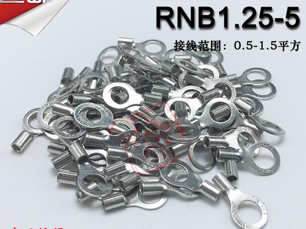 1000pcs/lot OT2.5-6 Cold-Pressed Round O-Type Bare Terminal Block Nose Thick 0.5MM Brass