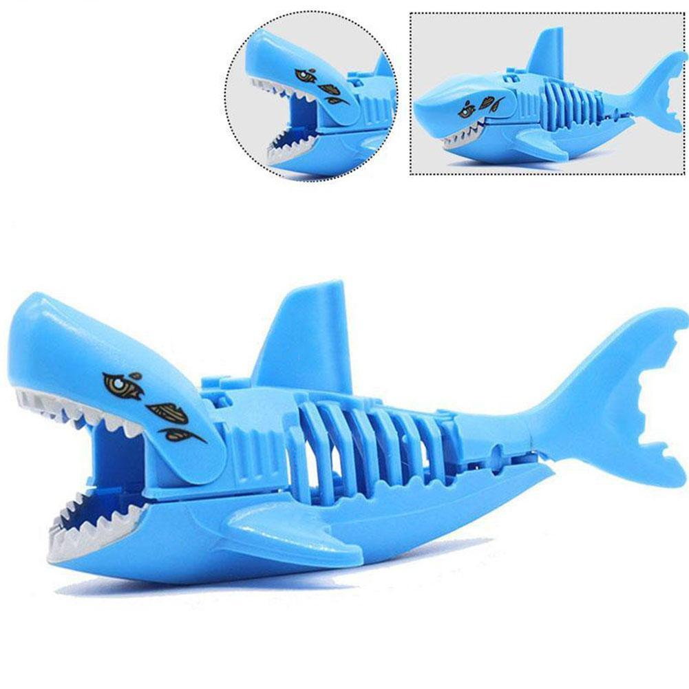 Blue Black Ghost Zombie Shark DIY Blocks Sea Life Pirates Building Blocks Toys