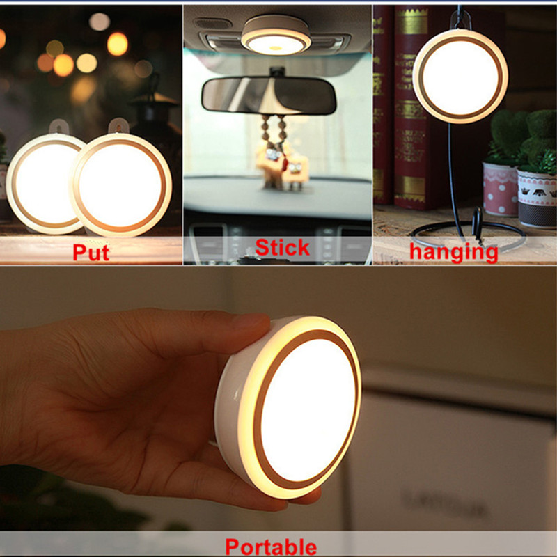 Recharge Remote Control Led Night Light Bed Room Cupboard Lamp Decor Warm White Night Lights