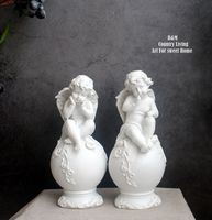 arboretum European style cute white cherub household decorations are resin cloth craft home style