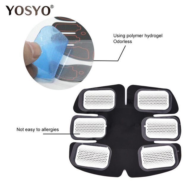 2pcs(1 pair)Replacement gel pads Muscle Trainer Replacement Massager Gel Sheet Muscle Stimulator Exerciser Pad Accessories 1