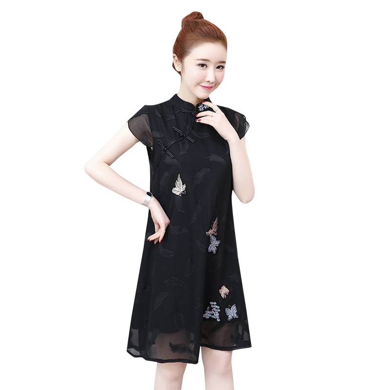 2019 robe filles dentelle qipao robe costumes broderie qipao boutique princesse robes chinois traditionnel robe cheongsam