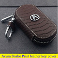 Car parts high quality leather key cover for Limousine Acura TLX LX TL RLX SUV Acura MDX RDX ZDX Snake Print style key ring