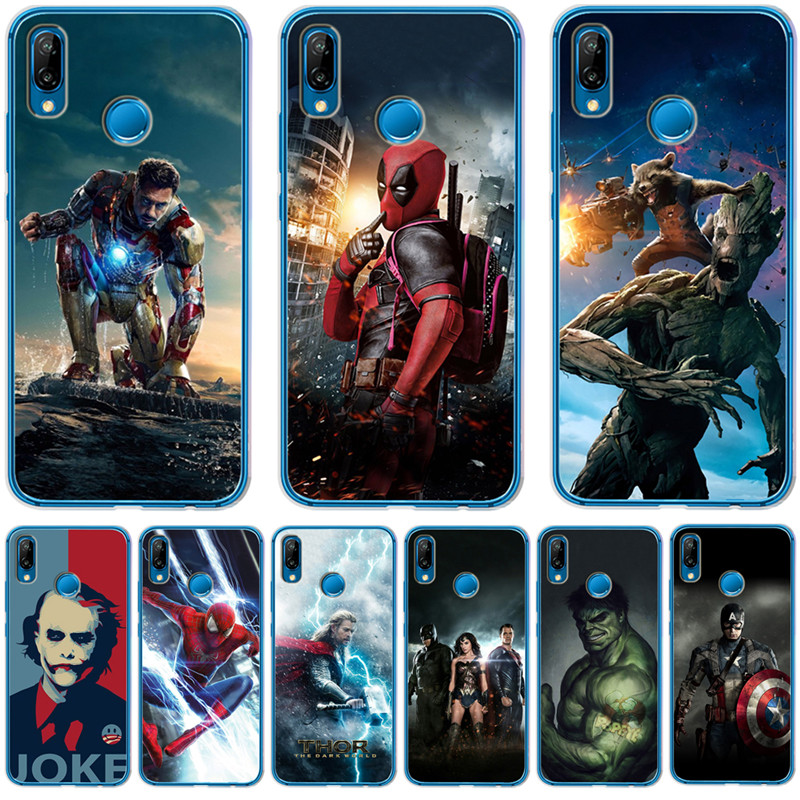 Luxury Joker <font><b>Marvel</b></font> Avengers Deadpool For <font><b>Huawei</b></font> Mate 9 10 20 P8 P9 <font><b>P10</b></font> P20 P30 P Smart <font><b>Lite</b></font> Plus Pro Case <font><b>Cover</b></font> Coque Etui image