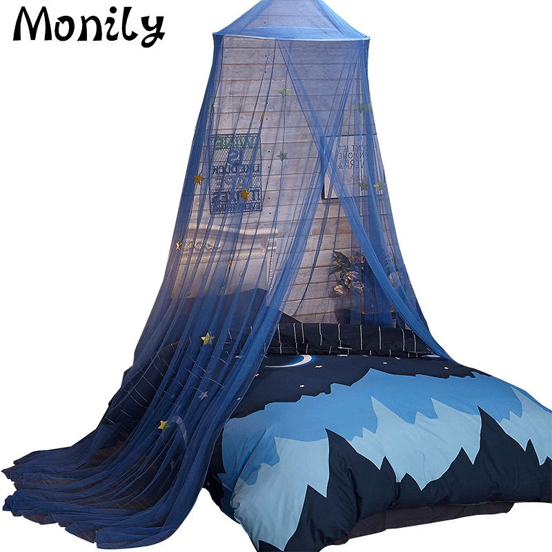 Monily Circular Valance Canopy Mosquito Net Lace Polyester Mesh Fabric Baby Child Bed Mosquito Net Domes Protection Lodges Tent