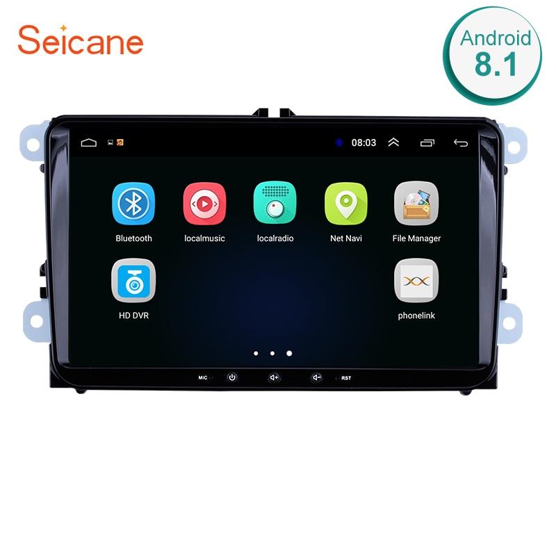 Seicane 9 Android 8.1 Car Radio Stereo GPS Multimedia Player For VW Volkswagen SEAT LEON CUPRA Skoda Passat b5 b6 CC Polo
